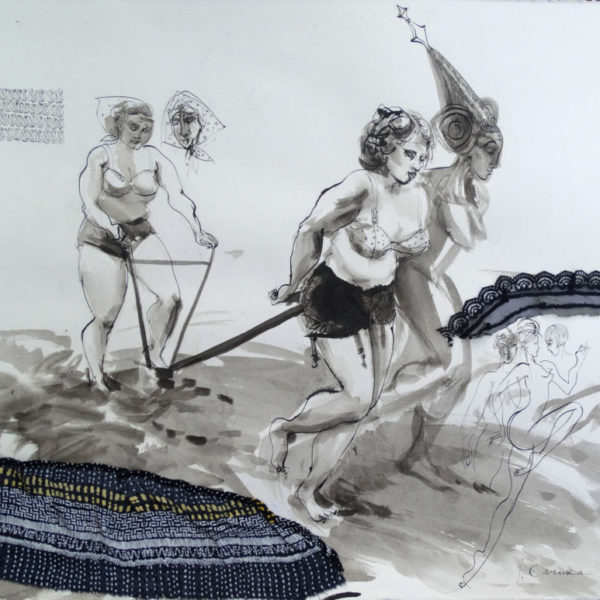 Woman, artwork by Ieva Caruka