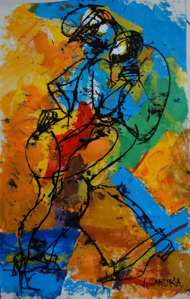 In the dance, artwork by Ieva Caruka