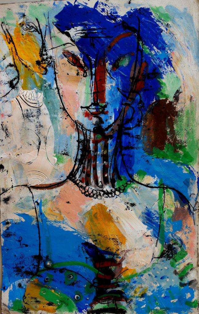 Blue evening, artwork by Ieva Caruka