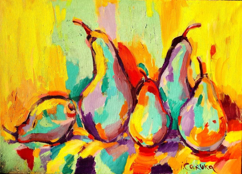 Pears, artwork by Ieva Caruka