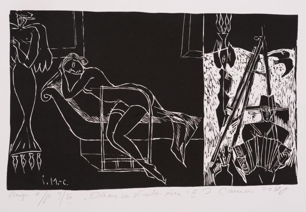 Lady and guy, artwork by Ieva Caruka