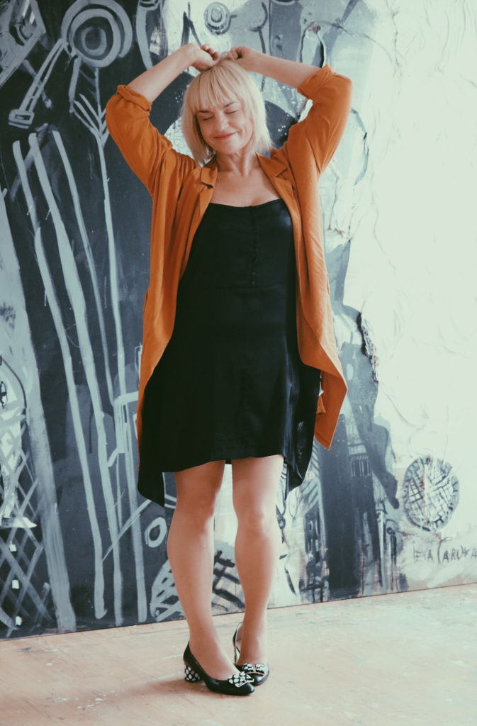 Ieva Caruka, full height portrait.