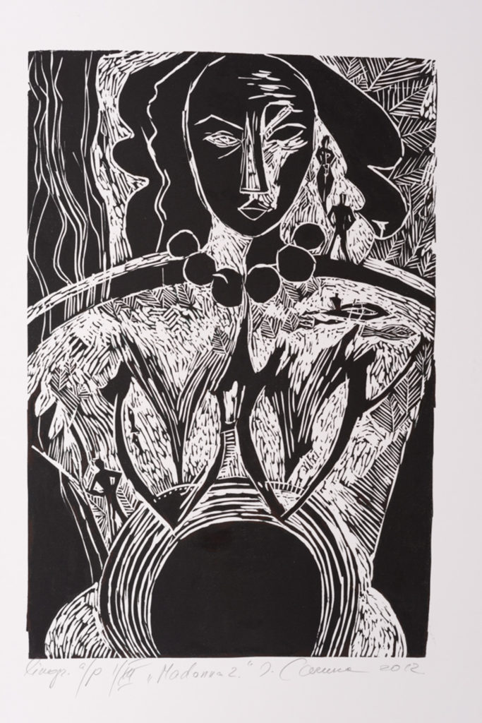 Madonna, artwork by Ieva Caruka