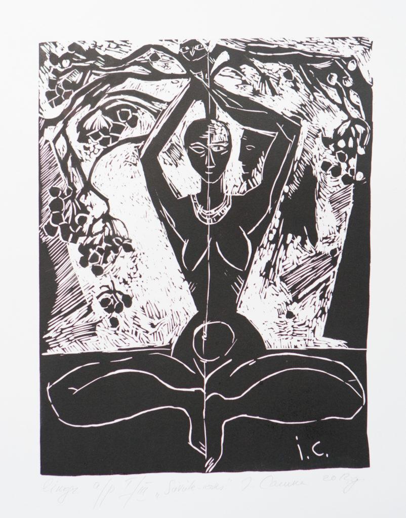 Woman-tree, artwork by Ieva Caruka
