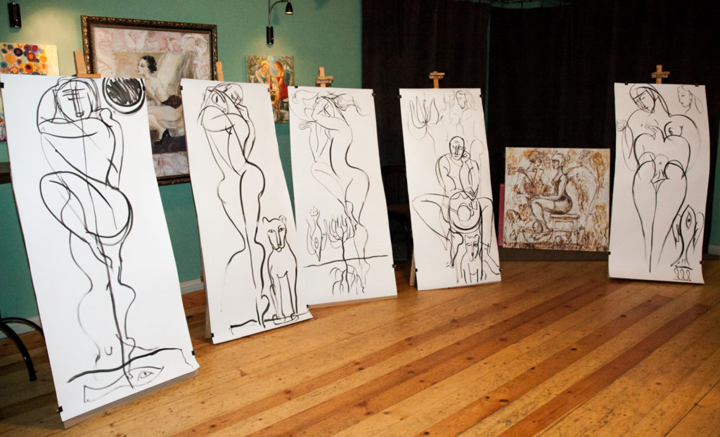 artwork by Ieva Caruka after the performance