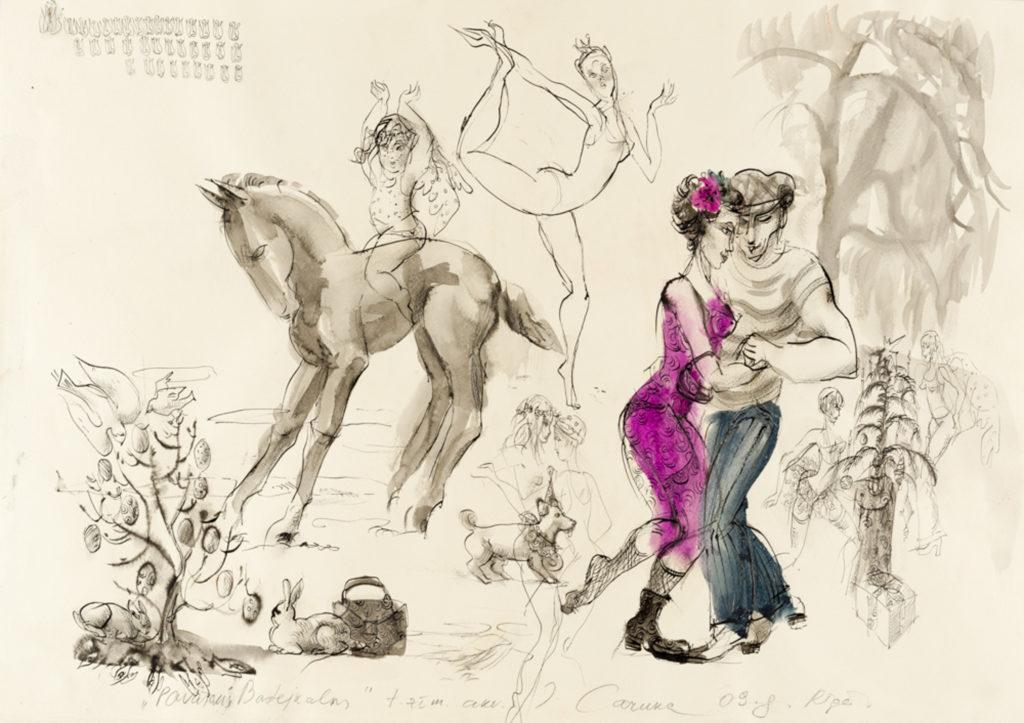 At the Bastejkalns, artwork by Ieva Caruka