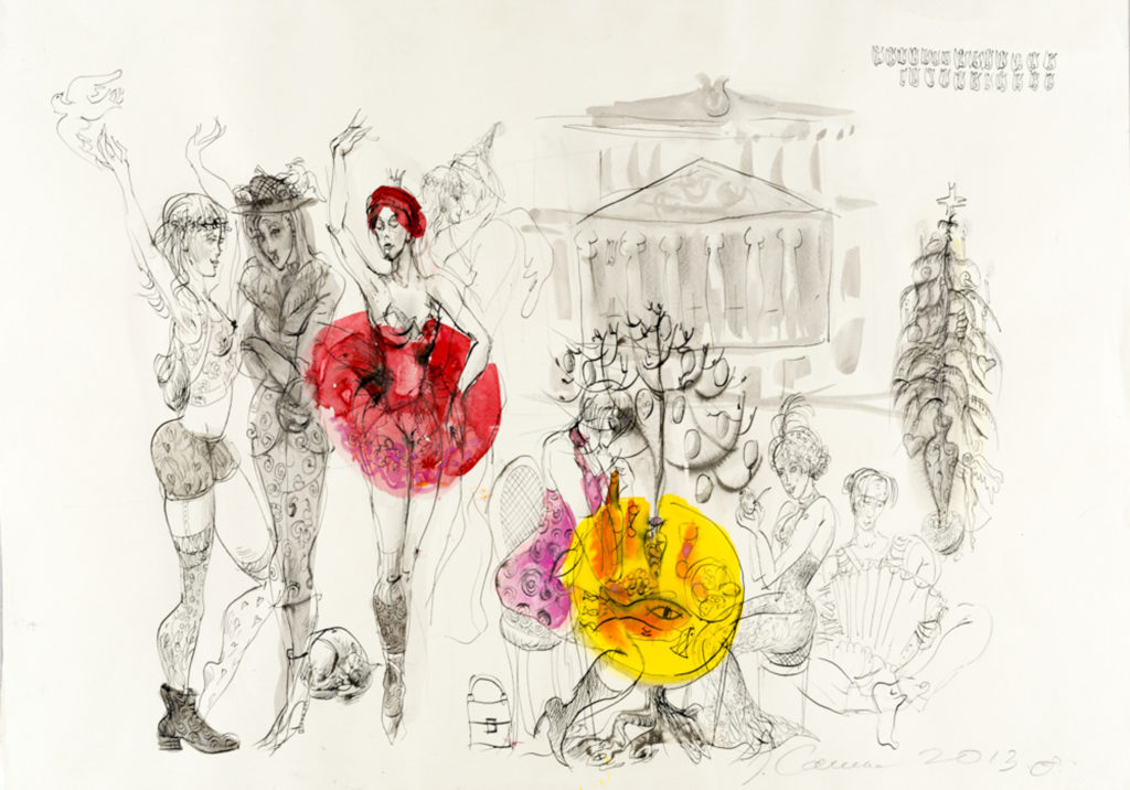 At the Opera, artwork by Ieva Caruka