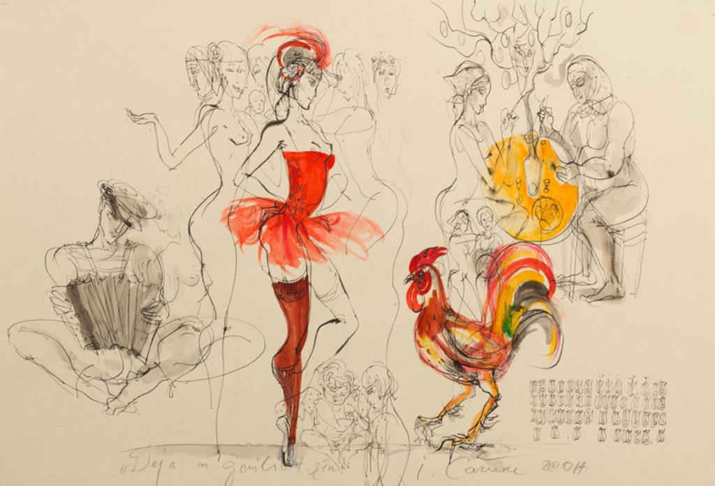 Dance, artwork by Ieva Caruka