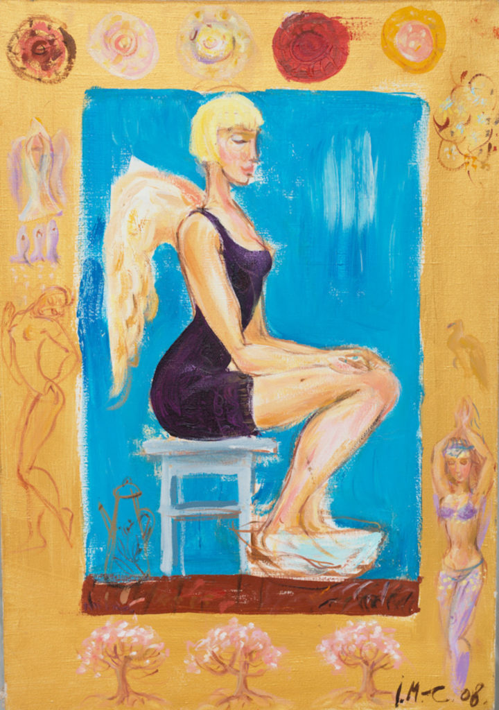 Angel A, painting by Ieva Caruka