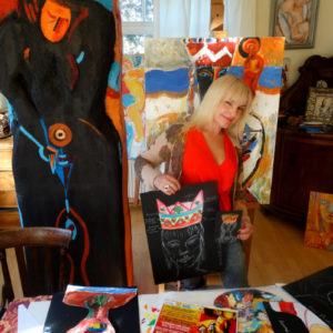 Ieva Caruka, portrait in the studio
