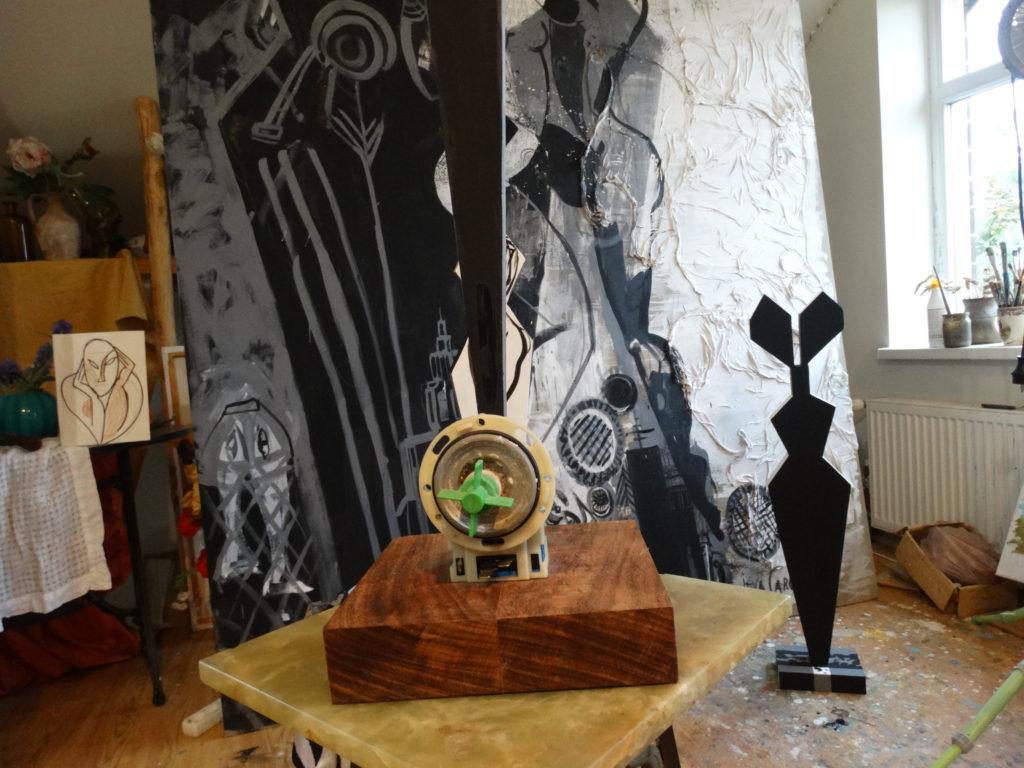 Photograph of the work in progress in Ieva Caruka's studio