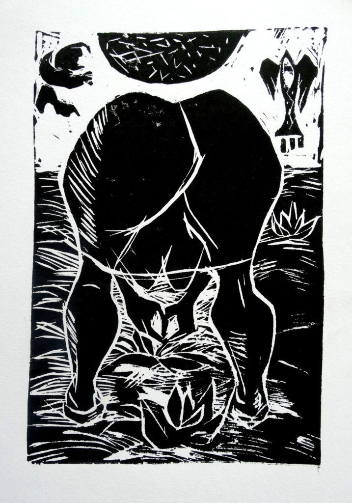 Field works, artwork by Ieva Caruka