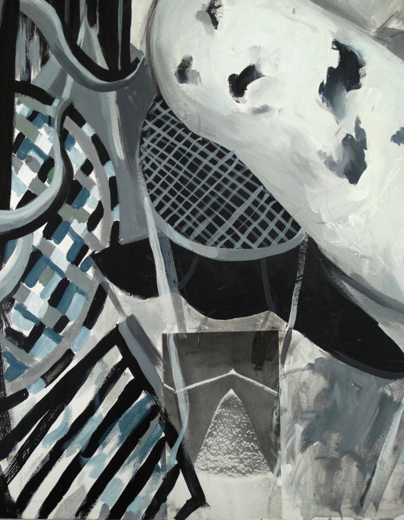 Fragment. Renegade. acrylic, collage, canvas, by Ieva Caruka.