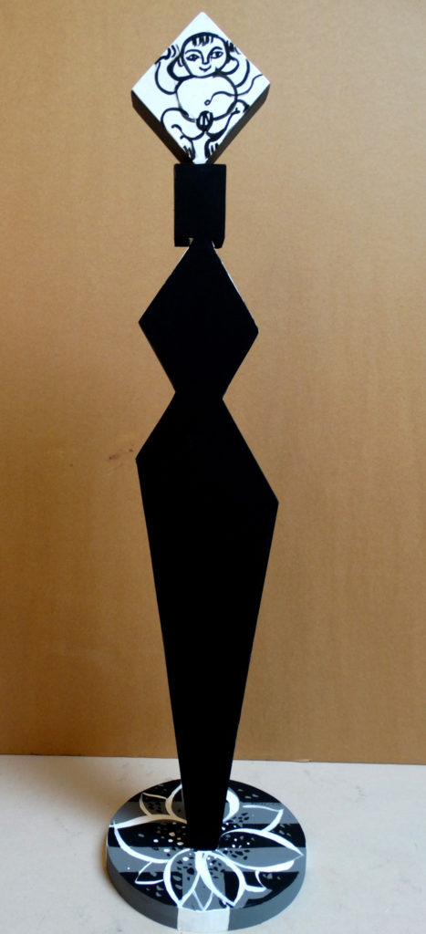 Mother. Birch veneer, pine, acrylic, by Ieva Caruka.
