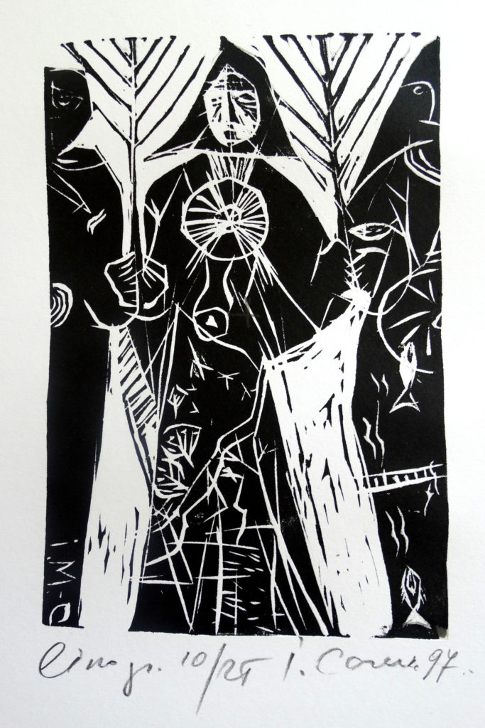 Old women, artwork by Ieva Caruka