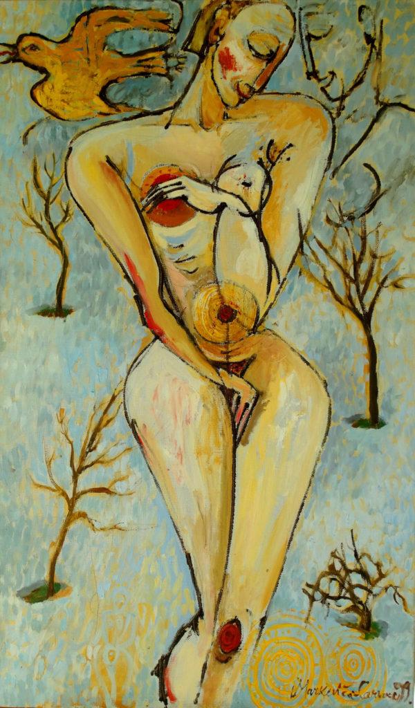 Spring. Oil, canvas, by Ieva Caruka.