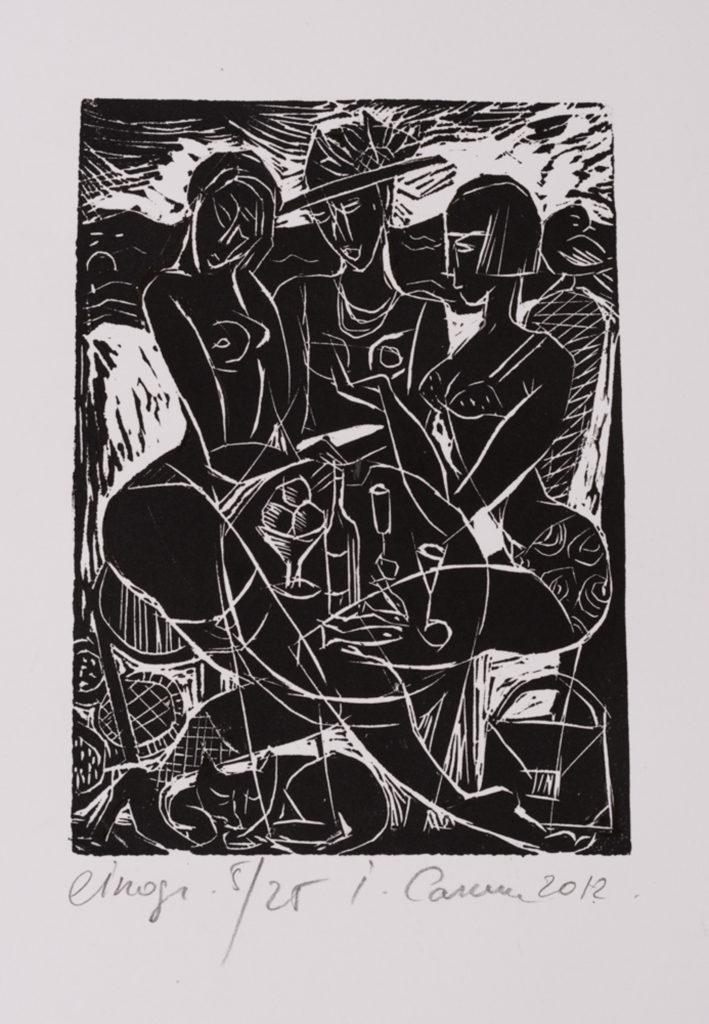 Three, artwork by Ieva Caruka