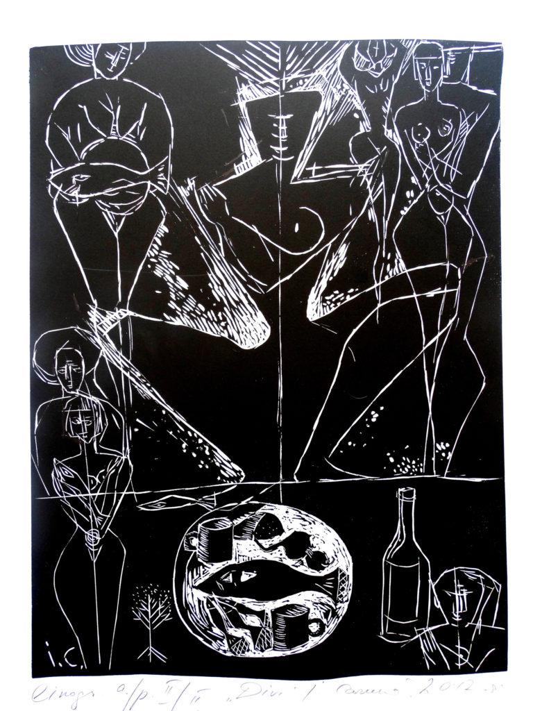 Two, artwork by Ieva Caruka